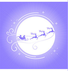 silhouette Christmas Day 6 vector image vector image