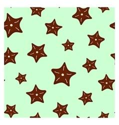 Stars seamless pattern vector image vector image