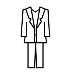 suit line icon sign on vector image