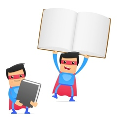 superhero with books vector image