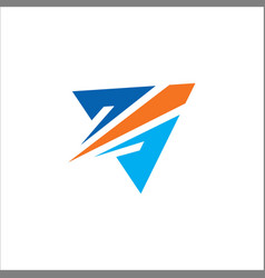 triangle arrow colored logo vector image vector image
