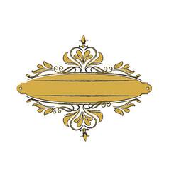 Vintage label with ornamental border badge elegant vector