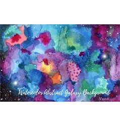 Watercolor abstract galaxy background vector