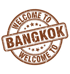 welcome to bangkok vector image vector image