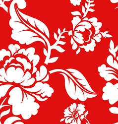 White rose on red background traditional Russian vector image vector image