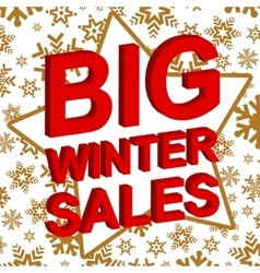 Winter sale poster with big winter sale text vector