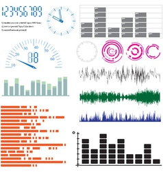 Equalizer time design elements vector