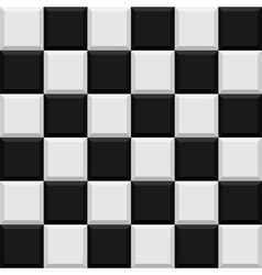 Black and white tiles seamless pattern vector image