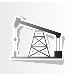 Oil drilling rig sign  new year blackish vector