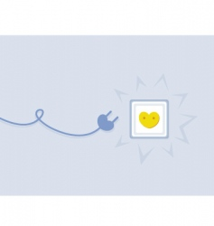 Electricity love outlet vector