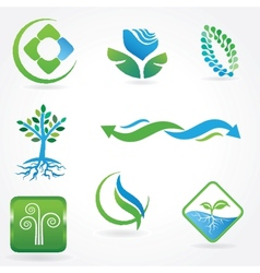 Eco icons - logos vector