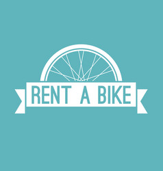 Rent a bike in retro style vector