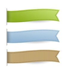 Pastel web ribbons set vector