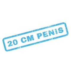 20 cm penis rubber stamp vector