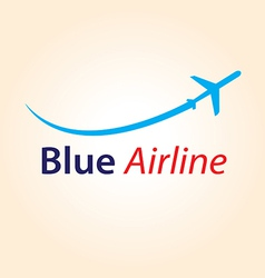 Blue airline logo vector