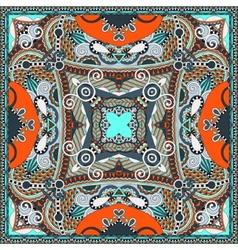 Silk neck scarf or kerchief square pattern design vector