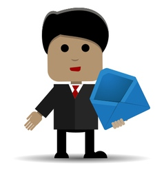 Man with an envelope vector image