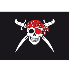 Jolly roger pirate flag vector