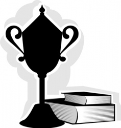 prize and books vector image