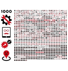 1000 tools gears smiles map markers mobile vector