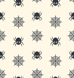 Halloween seamless background with spiders and web vector