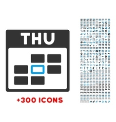 Thursday flat icon vector