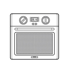 Outline kitchen oven vector