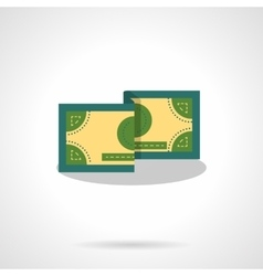 Money bill flat color icon vector