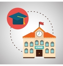 Flat about back to school design vector