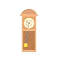 Grandfather clock icon cartoon style vector image