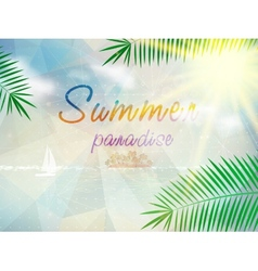 Abstract seaside view poster template vector image vector image