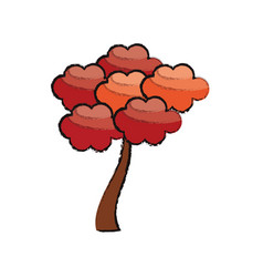 beauty tree natural japanese vector image vector image