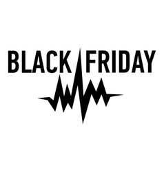 Black friday pulse icon simple style vector