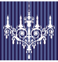chandelier silhouette vector image vector image