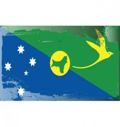 Christmas island national flag vector