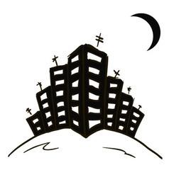City black vector image