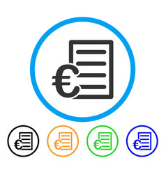 euro pricelist rounded icon vector image