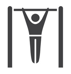 Fitness pull up glyph icon fitness and sport vector
