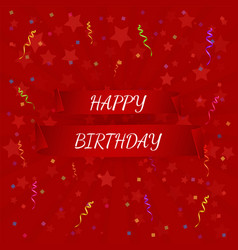 Happy birthday banner paper scrolls vector