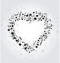 Heart music vector