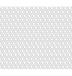 Hexagon star seamless background vector