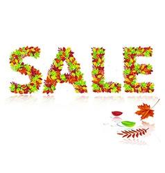 Inscription sale of autumn leaves vector