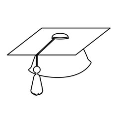 isolated graduation cap vector image