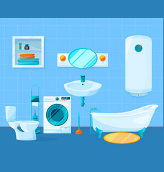 Modern clean interior of bathroom pictures vector