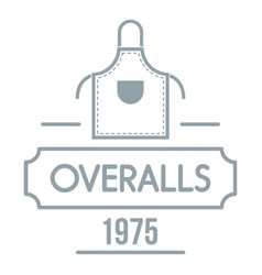 overalls logo simple gray style vector image
