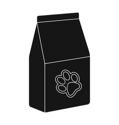 Pet food icon in black style isolated on white vector image vector image