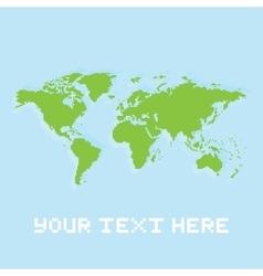 Pixel art planet earth card vector