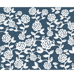 Roses Vintage seamless pattern on pink vector image