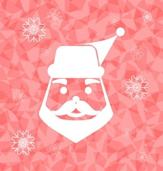 Santa claus on dazzled triangle background vector
