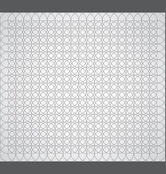 seamless geometric pattern of circles on a white vector image